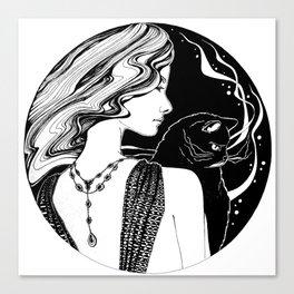 Go Black Canvas Print