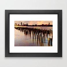 City River Sundown Framed Art Print