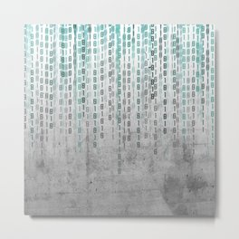 Concrete Binary Code Metal Print