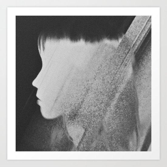 Faceless Charcoal Art Print