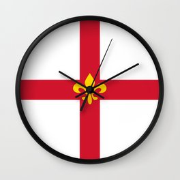 Lincoln city flag united kingdom great britain Wall Clock