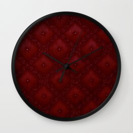 ruby red texture Wall Clock