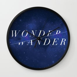 Wonder/Wander - Sky Wall Clock