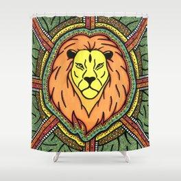 Rasta Lion Shower Curtain