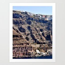 Climb Up Santorini Art Print