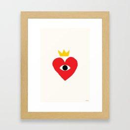 King of my heart Framed Art Print