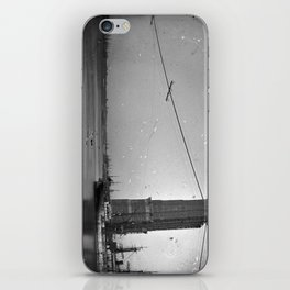 Construction of The Brooklyn Bridge Photograph iPhone Skin