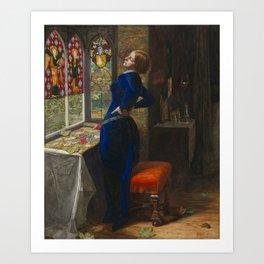 Sir John Everett Millais, Bt 1829–1896   Mariana Art Print