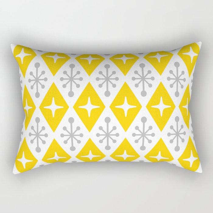 Mid Century Modern Atomic Triangle Pattern 106 Rectangular Pillow