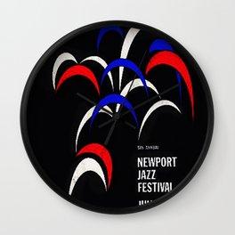 1958 Newport Jazz Festival Vintage Advertisement Poster Newport, Rhode Island Wall Clock