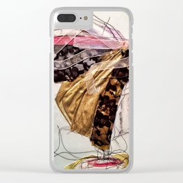Fabric Collage Dancer Clear iPhone Case