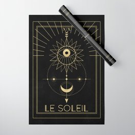 Le Soleil or The Sun Tarot Wrapping Paper