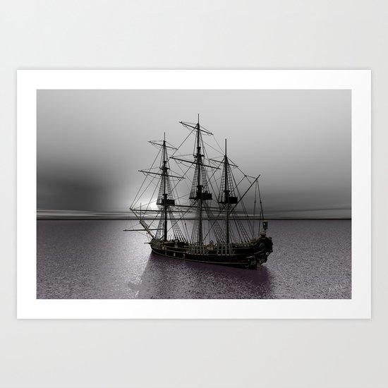 Sailing Along the Cold Sun Art Print