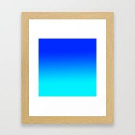 Blue Fade Framed Art Print