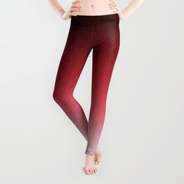 Red white textured Ombre Leggings