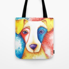Dog Jack Russell Terrier JRT Original Art Confetti Tote Bag