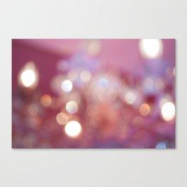 Pink Bokeh  Canvas Print