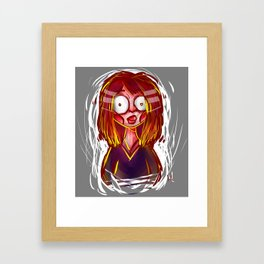 She's... A little crazy... Framed Art Print