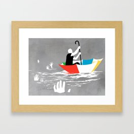Staying Afloat Framed Art Print