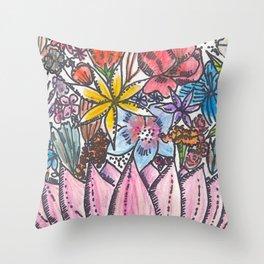 Flower Moon Throw Pillow