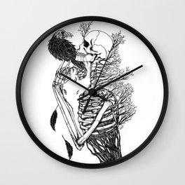 SkullRose Wall Clock