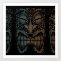 tiki Art Prints featuring Tiki by Nano Barbero