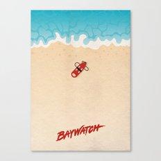 Baywatch Alternative Poster Canvas Print