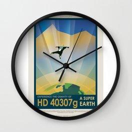 HD 40307 g - NASA Space Travel Poster Wall Clock
