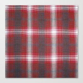 Texture #19 Plaid fabric. Canvas Print