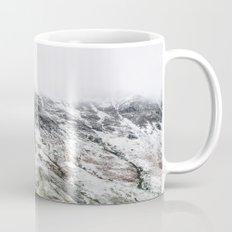 Littledale Edge and snow. Honister Pass, Cumbria, UK. Mug