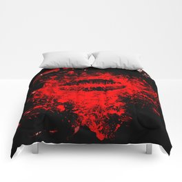 Gothic Bloody Kiss Comforters
