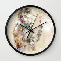 spaceman Wall Clocks featuring spaceman by bri.buckley