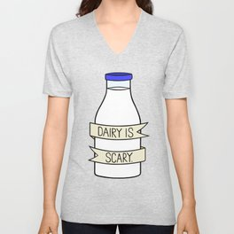 Dairy is Scary Unisex V-Neck