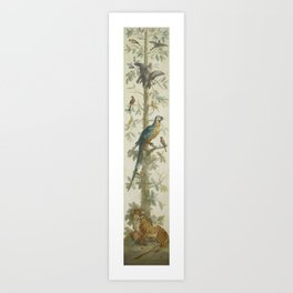 Decorative Depiction with Plants and Animals, anonymous, 1760 - 1799 bv Art Print