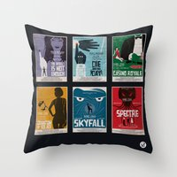 bond Throw Pillows featuring Bond #4 by Alain Bossuyt