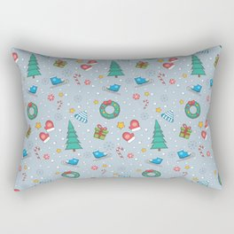New Year Christmas winter holidays cute Rectangular Pillow