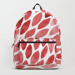 Watercolor brush strokes burst - red Backpack