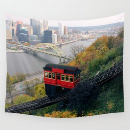 An Autumn Day on the Duquesne Incline in Pittsburgh, Pennsylvania Wall Tapestry