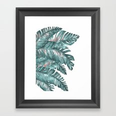 tropical blue Framed Art Print