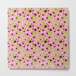 Blushing Pink Beauty and the Beets Metal Print