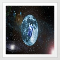 dr who Art Prints featuring dr who by store2u