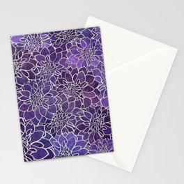 Dahlia Flower Pattern 3 Stationery Cards