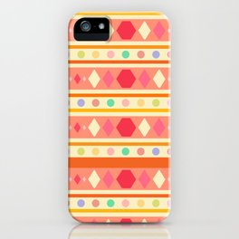 Happy Tribal Pattern iPhone Case