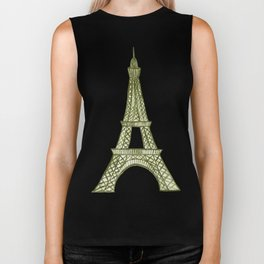 Eiffel tower GOLD / La tour Eiffel - PAINTED Biker Tank