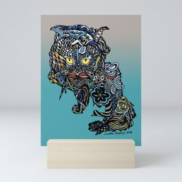 Dragon Cat (Color) Mini Art Print