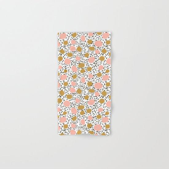 Pebbles cute pattern gender neutral dorm college abstract design minimal modern earth nature Hand & Bath Towel