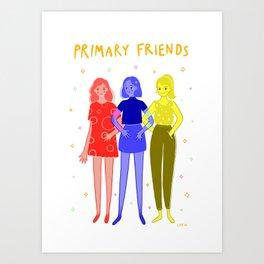 Primary Friends Art Print