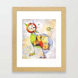Cat. Inspired By Wassily Kandinski Framed Art Print