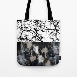 Two Faced - Double abstract patterns, marble and textured Tote Bag
