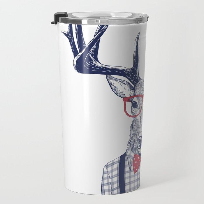 MR DEER WITH GLASSES Travel Mug